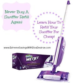 Never purchase another swiffer wet jet bottle again - Save money & learn how you can refill it with your own solution! #frugaltip