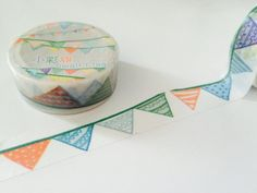 Watercolor Banner Washi Tape by GoatGirlMH on Etsy