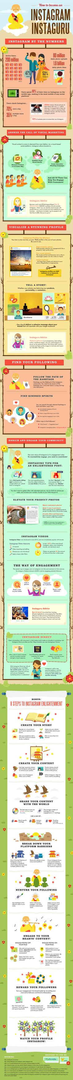 Marketing visuel : communiquer sur instagram #Infographic #SocialMedia #Instagram