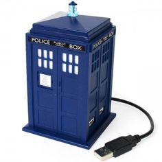 Hub USB Dr. Who TARDIS (con luz y sonido) - Tienda de regalos originales QueLoVendan.com