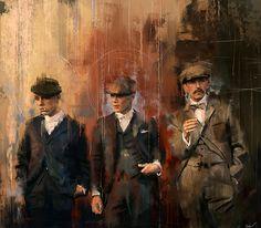 Peaky Blinders // John, Thomas & Arthur Shelby. BBC serie.
