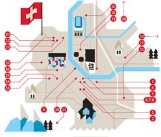 slovakia/swiss boarder map illustration by Loulou and Tummie