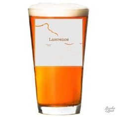 Houston Etched Map Beer Glass Show your college town pride by