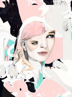 Illustration by Raphael Vicenzi - Ego - AlterEgo Graphic Design Illustration, Graphic Art, Illustration Art, Art Hipster, Artwork Prints, Fine Art Prints, Ink Drawings, Pattern Art, Hatsune Miku