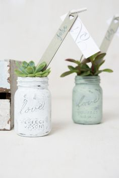 Create the most adorable mini mason jar wedding favors with this minimum pack of six low-priced, customizable miniature mason jars. Mason Jar Wedding Favors, Wedding Favours, Summer Wedding, Diy Wedding, Mini Mason Jars, Got Married, Wedding Planning, Wedding Inspiration, Succulents