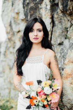 Vibrant Spring Brights & Black Moody Hues Bridal Editorial http://www.wantthatwedding.co.uk/2018/03/11/vibrant-spring-brights-black-moody-hues-bridal-editorial/?utm_campaign=coschedule&utm_source=pinterest&utm_medium=Want%20That%20Wedding&utm_content=Vibrant%20Spring%20Brights%20and%20Black%20Moody%20Hues%20Bridal%20Editorial Credits: Co-ordination: Efektownie.pl / Flowers…