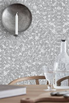 A new wallpaper book featuring designs from the - by five design icons. Scandinavian Designers II is available at Hirshfield's. Kitchen Wallpaper, New Wallpaper, Pattern Wallpaper, Neutral Wallpaper, Scandinavian Wallpaper, Scandinavian Interior, Decoration Gris, Wall Stencil Patterns, Swedish Design