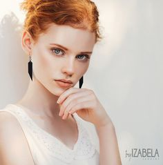 Black dangle minimalist earrings – a unique product by ByIzabela. Via en.DaWanda.com.
