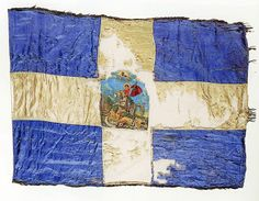 Greek Flag1920's-Thrace-Η εγκατάλειψη της Ανατολικής Θράκης το 1922.: Απελευθέρωση της Ανατολικής Θράκης. Greek Flag, Athens Greece, Countries Of The World, Coat Of Arms, Archaeology, The Past, Banner, Blue And White, Symbols