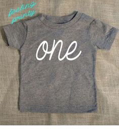 SALE Grey First Birthday Baby Shirt One Birthday Shirt One Girls Boys Gray Birthday Shirt by fEeLiNgPrInTy on Etsy https://www.etsy.com/listing/213439058/sale-grey-first-birthday-baby-shirt-one