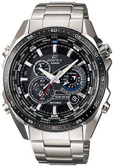 Casio EQS-500DB-1A1ER Mens Edifice Solar Black Steel Watch