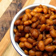 Slow Cooker Vegetarian Boston Baked Beans - Sweet, smoky and naturally gluten free and vegan.