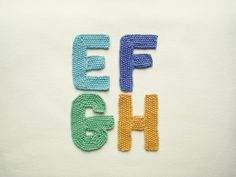 Ravelry: Alphabet, E-H pattern by Frankie Brown Knitting Patterns Free, Free Knitting, Fundraising Sites, Alphabet E, Moss Stitch, Make A Donation, Some Ideas, Ravelry, Knit Crochet