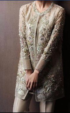 pakistani dress. #fashion #style #pretty #grey