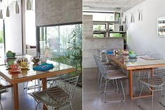 Propuestas para decorar un comedor informal  Incorporá plantas y flores al sector del comedor para darle vida al espacio.  Foto:Living /Archivo LIVING