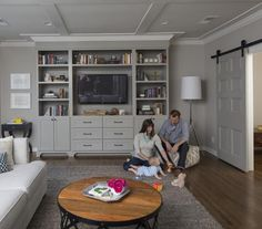 Radical Reno: How One Couple Transformed a Dark and Dingy House Into Their Light and Airy Dream Home – Media Room İdeas 2020 Grey Interior Doors, Interior Paint, Interior Design, Tv Furniture, Great Rooms, Home And Family, Family Rooms, New Homes, Nashville