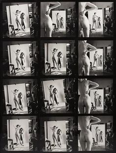Self Portrait with Wife and Models, Paris by Helmut Newton