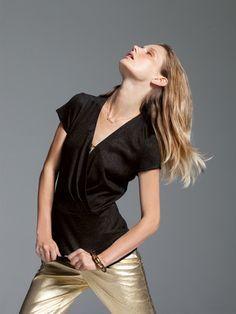 Burda style -  NR. 126-12/2012 Shirt - Wickel-Optik, V-Ausschnitt