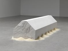 Wolfgang Laib . marble house, 2011