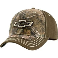 Men's Realtree Camo Dirt Road Caps - Who is the toughest, Ford or Chevy??? Show everyone your favorite with this classic yet rugged cap featuring Realtree® Xtra Camo high-def 3D embroidered Chevy or Ford logo. Comfortable Velcro® closure.