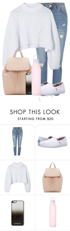 """Casual Day"" by madisoncorell on Polyvore featuring River Island, TOMS, Mansur Gavriel, MICHAEL Michael Kors and lululemon"