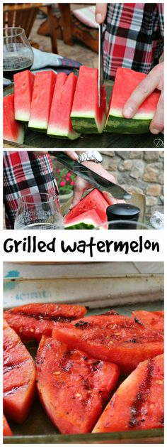How to grill a #watermelon. So delicious and goes great with steak!