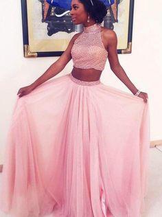 2017 prom dresses,prom dresses,2 pieces prom dresses,fashion,women fashion,party dresses,pink party dresses,vestidos,klied