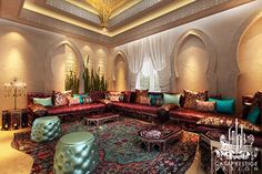 Ladies Majlis – Chouse with you. Interior Design Dubai, Interior Design Companies, Interior Architecture, Moroccan Design, Moroccan Decor, Villa Design, House Design, Exterior Design, Interior And Exterior