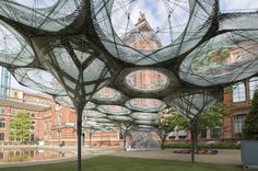 Robots Weave a Carbon Fiber Forest in London | The Creators Project