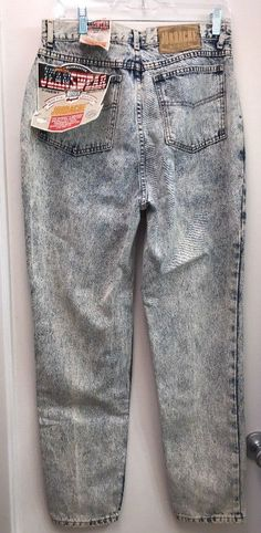 76fefd99728c4 Vintage Jordache Acid Wash Jeans Size 14 Tapered Leg New Old Stock
