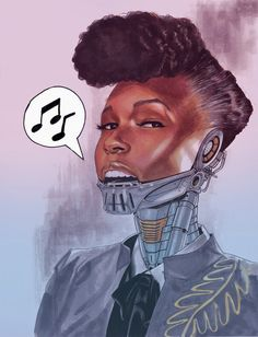 Janelle Monae by Ron Ackins