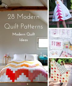 28 Modern Quilt Patterns and Modern Quilt Ideas | Don't miss our updated collection of modern quilt patterns! They're perfect for your next quilting project.