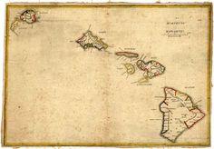 Old Hawaii Islands Map