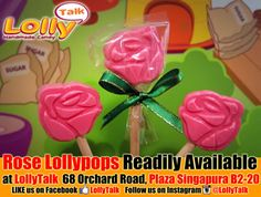 Rose Lollipops at LollyTalk. Roses are red, violets are blue, lollypops are sweet, but not as sweet as LollyTalk's fans!