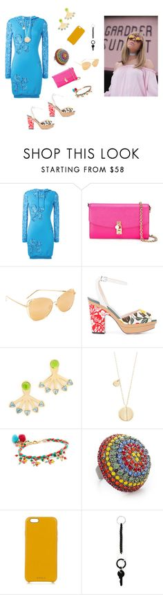 """Trendy Look..**"" by yagna ❤ liked on Polyvore featuring Moschino, Dolce&Gabbana, Linda Farrow, Fendi, Rebecca Minkoff, Elizabeth and James, Rosantica, Elizabeth Cole, Chaos and MM6 Maison Margiela"