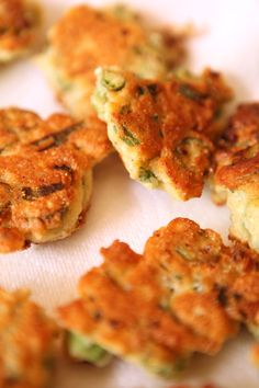 Homemade okra fritters #recipe by Rebecca Lang #okra #fritters