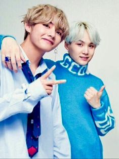 Taegi | the height difference thou LOL... and I love their outfits!