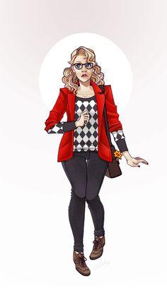 DC Hipster Girl Series: Harley Quinn by Elizabeth Beals