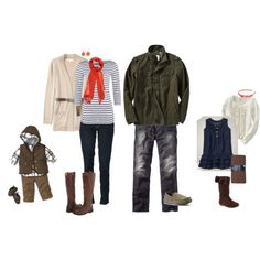 """""""What to Wear- Fall Family Portraits"""" by lpowell on Polyvore"""