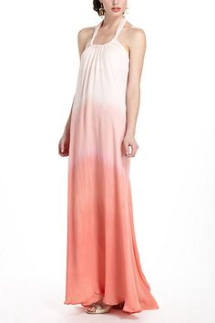 beautiful dip dyed maxi dress from Anthro... $388
