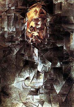 Pablo Picasso ormai entrato in piena fase cubista realizza un ritratto del suo gallerista Ambroise Vollard