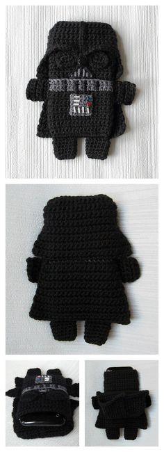 Crochet Star Wars Darth Vader Phone Case Pattern