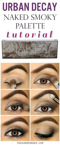 Urban Decay Naked Smoky Palette Tutorial Awesome and easy smoky eye with the Urban Decay Naked Smoky palette! Eye Makeup Tips, Skin Makeup, Makeup Eyeshadow, Makeup Brushes, Makeup Ideas, Makeup Tutorials, Drugstore Makeup, Smoky Eyeshadow, Cosmetic Brushes