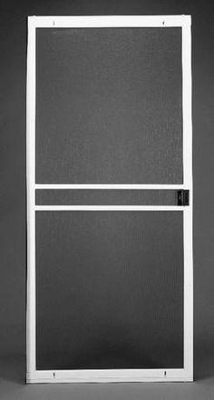 ThermaStar by Pella 1025 White Vinyl Screen Door Common 78 in