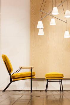 Orlando Lounge Chair + Ottoman Yellow - Reiko Kaneko