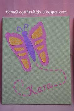 Footprint Butterfly Wall Canvas