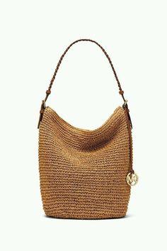 THE SAK handbag features a shoulder strap, crochet construction, zipper closure, interior zipper pocket, and interior slip pockets. The Sak Handbags, Crochet Coin Purse, Knitted Bags, Crochet Bags, Luggage Store, Small Wallet, Hobo Bag, Cosmetic Bag, Shoulder Strap
