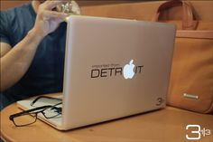 Detroit Macbook Decal Imported from Detroit   Show by 3andathird, $9.99