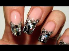 Pink, Black and Silver Foil Design for New Year 2012 Nail Art Tutorial