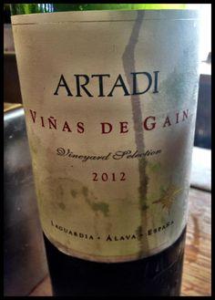 El Alma del Vino.: Bodegas y Viñedos Artadi Viñas de Gain 2012.